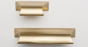 دستگیره کابینت طلایی مات
